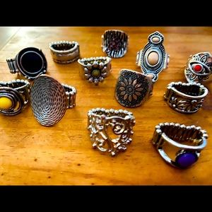 Paparazzi rings - one size fits all - 12 ring lot
